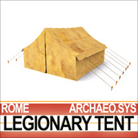 ancient rome legionary tent 3d model
