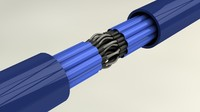 multicore cable wires 3d model