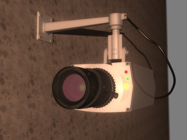 security camera 3d max