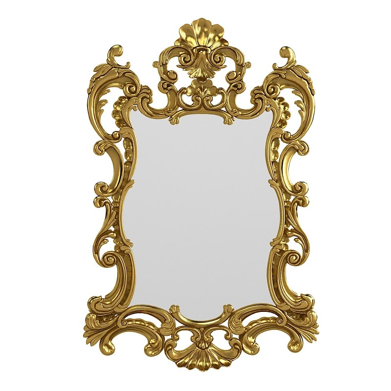 3d model of ceppi 2333 baroque for Classic mirror