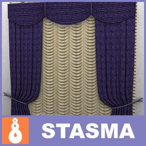 3d model of curtain classic