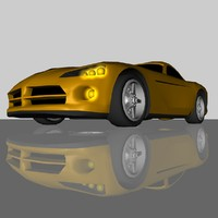 3d dodge viper sports car