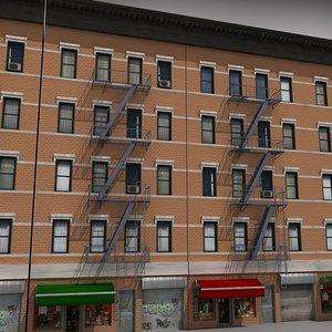 3d model downtown building