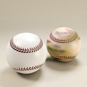 3dsmax baseball ball