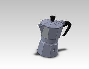 3d moka bialetti model