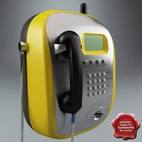 3d model pay phone v3
