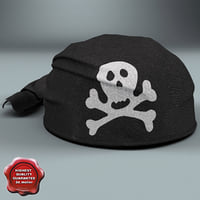 Pirate Scarf Hat Black