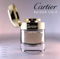 baiser vole eau parfum 3d model