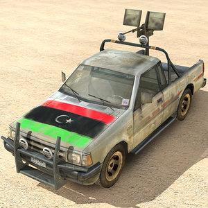 max libyan rebel pickup