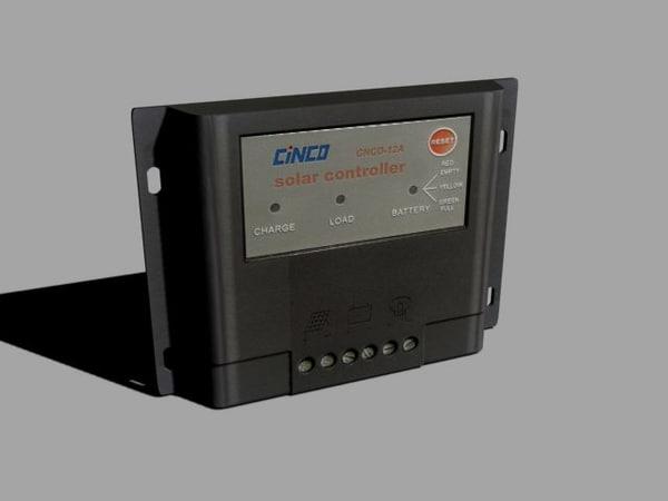 3d controler solar panels model