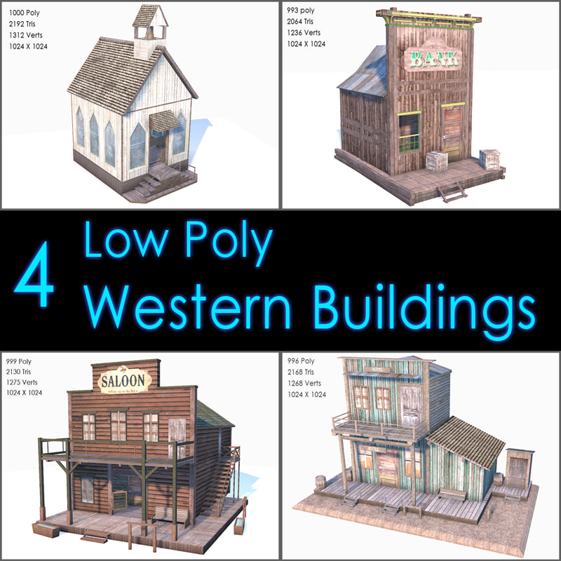 3ds max western buildings