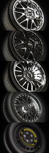 3d model wheels rims tires