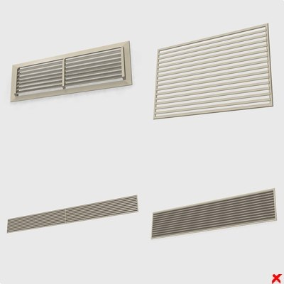 3ds max wall vents