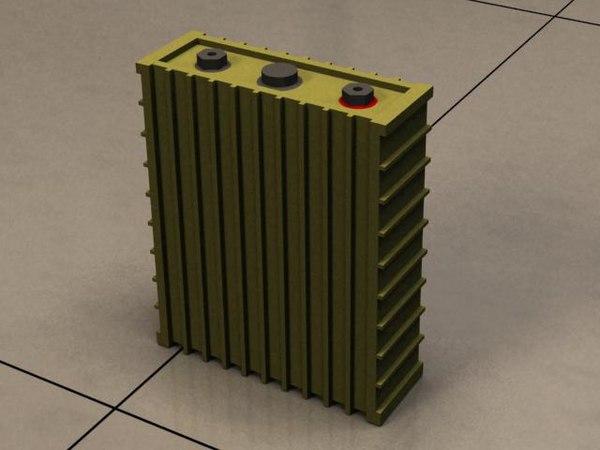 free 3ds model li-polymer battery cell