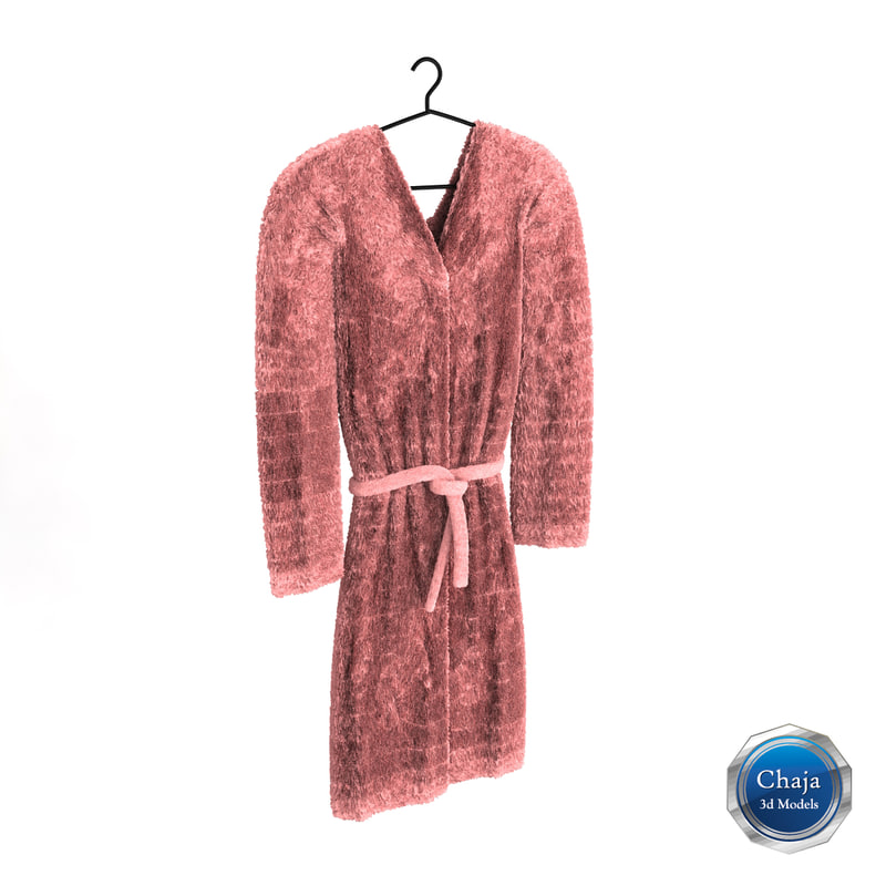 3ds max bath robe
