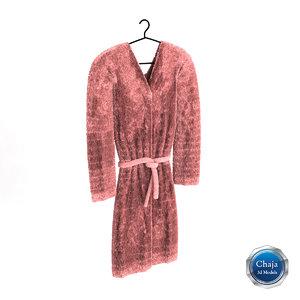 3ds max bath robe