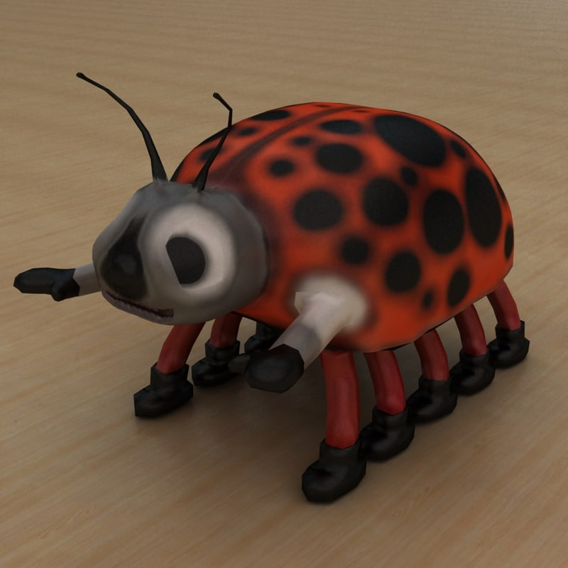 3d model beetle insect