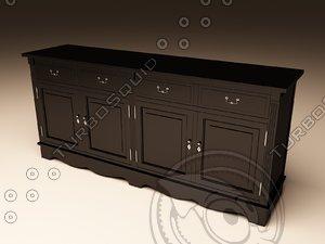 eichholtz cabinet dresser 3d max