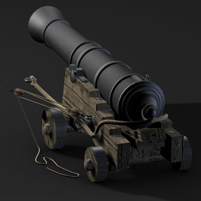 3d english naval cannon