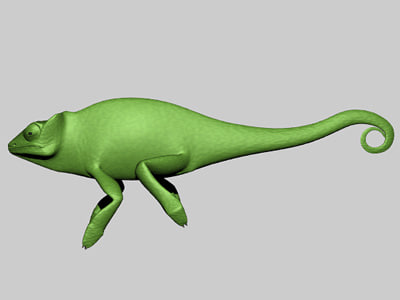 3d chameleon animation
