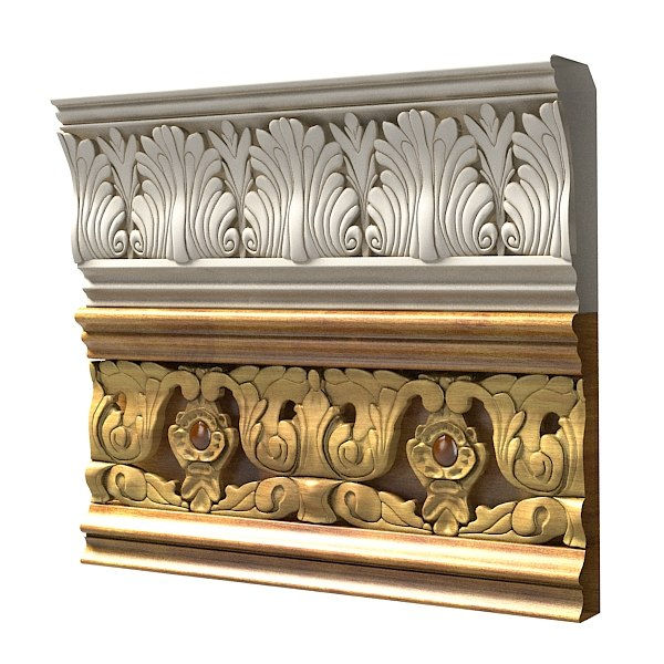 3d model of classic plaster baroque
