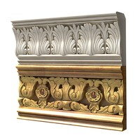 classic plaster baroque ceiling wall cornice carved