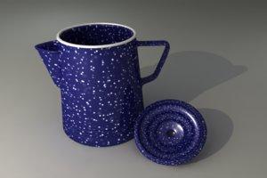 graniteware coffee pot obj