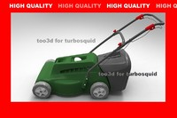 3d model lawnmover lawn