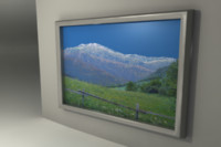 3d silver picture frame wall