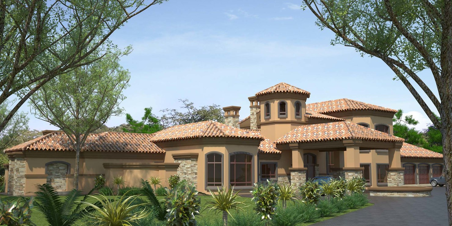 3d model tuscan house