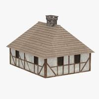 3d medieval house model
