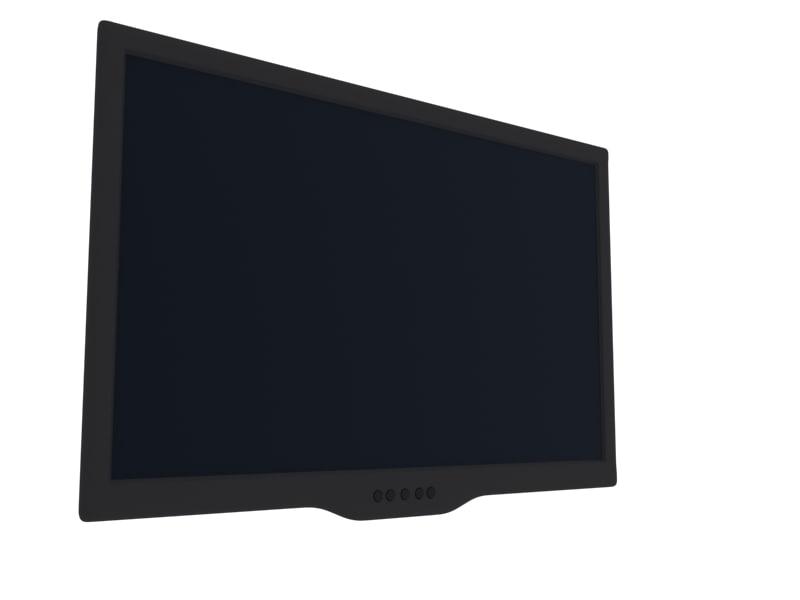free flat panel lcd monitor 3d model