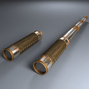 old telescope 3d 3ds