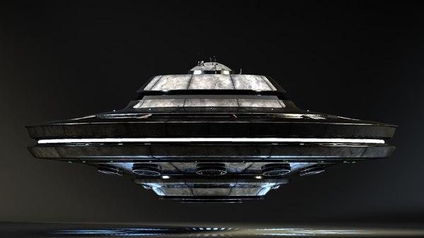 3d obj ufo