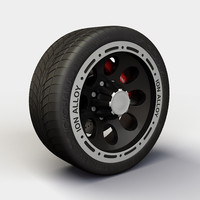 Wheel Alloy Ion 174 rims and tyre