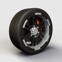 3d model alloy ion 182 rims