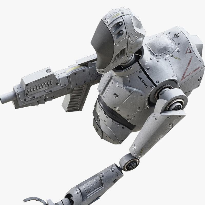 3d max military robot