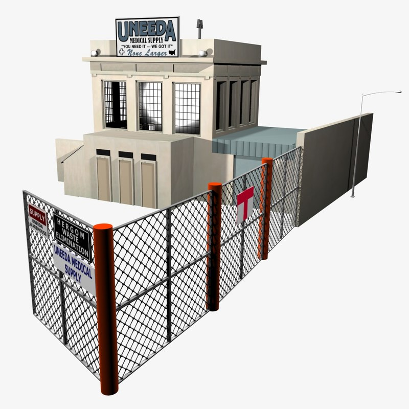 medical supply warehouse 3d max