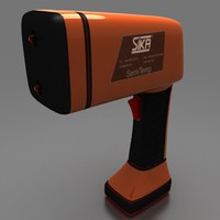 3d model of laser gun thermometer