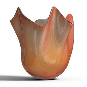 3d model venini fazzoletto vase