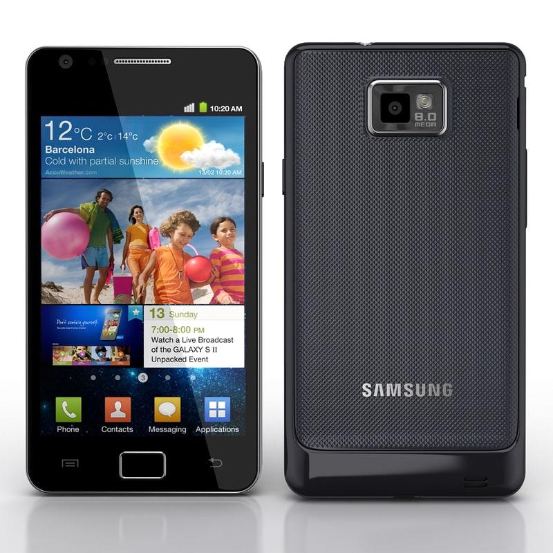 3d samsung i9100 galaxy s2 model