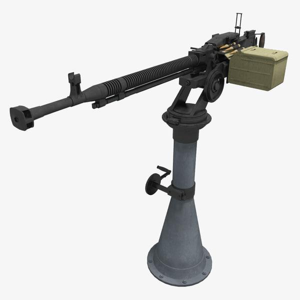 3d soviet machine gun dshkm model