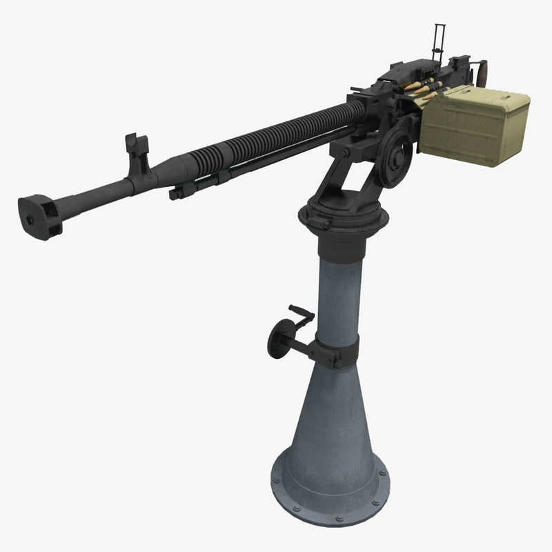 3d soviet machine gun dshkm model