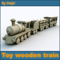 3d child wooden toy train