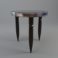 Round Tripod Table