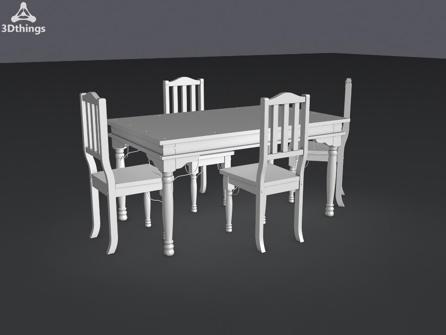 3d model kitchen furniture