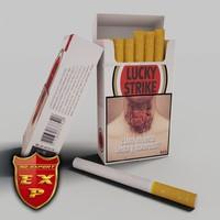 3dsmax lucky strike pack cigarettes
