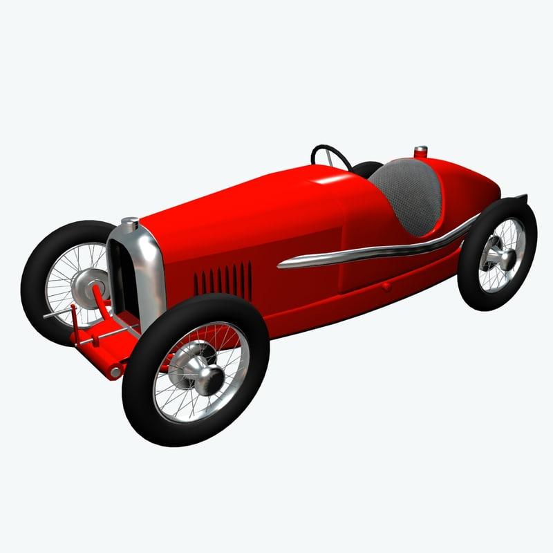 amilcar car 3d model