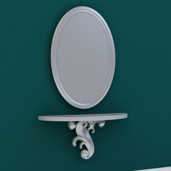 3d mirror baroque