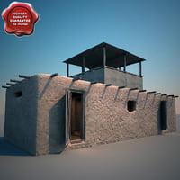 afghanistan house v9 3d 3ds